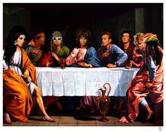 Rock n' Roll Last Supper (Kurt Cobain's in this one) Bizarre Kunst, Bizarre Art, Bob Marley, Art Rupestre, Rock Poster, Last Supper, Rock Legends, Arte Pop, Jim Morrison