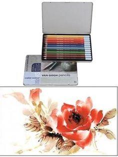 Βαν Γκογκ μολύβια χρώμα του νερού Set 12 Ακουαρέλας