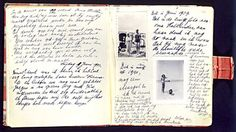 A handwritten page of Anne Frank's diary includes photos of herself on the beach during a holiday with her sister, Margot. The two sisters would live hidden in the annex with their mother, Edith; and another family. Science And Technology News, Diary Entry, Anna, S Diary, People Of Interest, Photo B, Anne Frank, Illusions, History