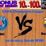 Prediksi Pertandingan Paris Saint Germain Melawan Barcelona 1 Oktober 2014 Uefa Champions League - Agen Bandar Bola dan Kasino Online