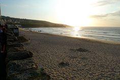 Porthmeor, St Ives' surfing beach, north Cornwall.