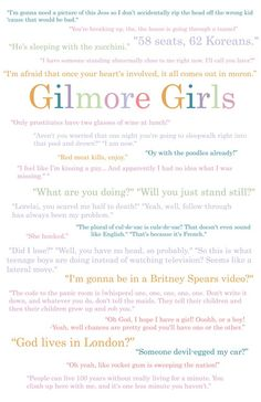 .Gilmore Girls. @Michelle Findley I feel a Gilmore Girls marathon in our future:)