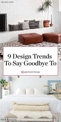 Designers are SO ready to say goodbye to these 9 home trends. Living Room Trends, Living Room Decor, Bedroom Decor, Interior Design Themes, Online Shops, Bathroom Trends, Home Trends, Home Decor Wall Art, Design Trends