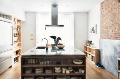 Design store owner Lauren Snyder and architect Keith Burns renovated a brownstone townhouse in Brooklyn to create this light-filled home for themselves.