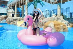 Amazon.com: Giant Flamingo Inflatable Pool Toy Tube: Toys & Games