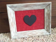 Rustic Burlap Heart Sign  Valentine's Day by iheartsigns on Etsy, $15.95