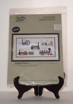 Something Special NEW Candamar Antique Train Locomotive Counted Cross Stitch Kit #SomethingSpecial #Picture