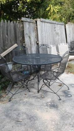 416 best cool wrought iron patio furniture images outdoor decor rh pinterest com
