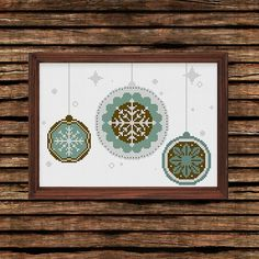 Christmas Snowflake cross stitch pattern by Ritacuna #cross #stitch #crossstitch #stitchpatterns #stitchdrawing #naturestitch #modernstitch