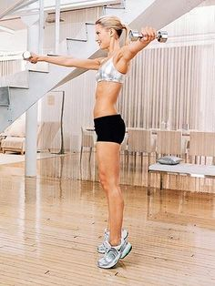 This is a complete workout routine to get slim and sculpted in just 4 weeks! Add these total body workouts to your schedule and you will see great results! This is the perfect cardio and strength workout to get your body back into bikini shape before summer hits!
