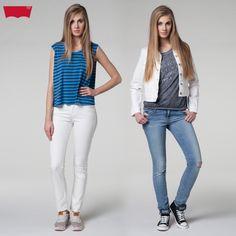 #liveinlevis #levis #ss15 #springsummer15 #spring #summer #new #newproduct #women #womencollection #jacket #classic #trucker #authentic #white #tshirt #tank #drapey #standard #good #idea #slim #denim #skinny #modern #city #lights