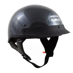 Motorcycle Half Helmet Cruiser DOT Street Legal - Carbon Fiber (Large). Meets DOT FMVSS 218 Approved for US Safety Standard. Adjustable Nylon Chin Strap with a Double D-ring Closure. Lightweight Impact Absorbent Materials. ABS Thermoplastic Resin Shell. Visor Secured with Screws not Snap-On. Carbon Fiber Graphic, not the actual material.