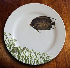 Poisson poisson quatre assiettes par MilestoneDecalArt sur Etsy
