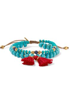 Chan Luu | Tasseled gold-tone multi-stone bracelet | NET-A-PORTER.COM