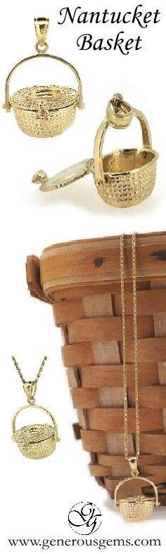 Nantucket Basket #charm by my #longaberger basket... NEW favorite necklace