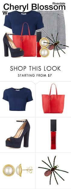 """""""Riverdale"""" by wearwhatyouwatch ❤ liked on Polyvore featuring Sea, New York, Alexander McQueen, Giuseppe Zanotti, Maybelline, Majorica and television"""