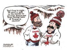 If Trump Is Elected, Jimmy Margulies,Politicalcartoons.com,Trump, Donald Trump, Ted Cruz, 2016 Republican candidates, 2016 presidential race, border wall, immigration
