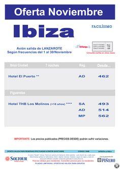 Oferta hoteles en Ibiza, salidas desde Lanzarote - Noviembre ultimo minuto - http://zocotours.com/oferta-hoteles-en-ibiza-salidas-desde-lanzarote-noviembre-ultimo-minuto/