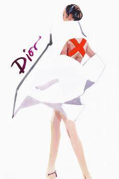 david downton croquis mode illustration dessin fashion week haute couture automne hiver 2013 2014 paris dior alexis mabille chanel schiapare...