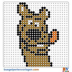 Plantillas Hama Beads de Scooby Doo. Descarga Plantillas adicionales en: http://www.buegelperlenvorlagen.com/es