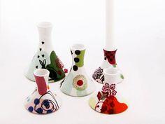 candlesticks ceramics decal cool Heidi Hirengen