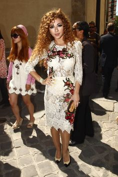 Myriam Fares ‏. What my hair would actually look like dyed