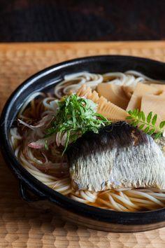 Japanese food / 身欠き鰊と筍のにゅうめん