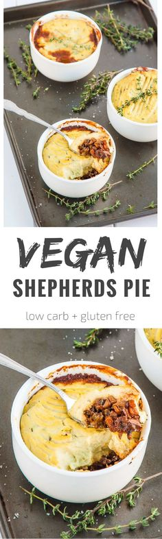 The British classic gets a makeover with mushrooms and cauliflower. This is a low carb vegan shepherds pie that the whole family will love! (Low Carb Pie)