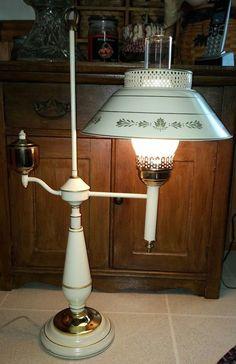 Student Desks, Tole Painting, Desk Lamp, Barware, Ivory, Lighting, Metal, Table, Gold