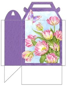 floral weave gable gift box printable gift boxes pinterest