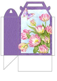 JB Tea Party Favors, Diy And Crafts, Paper Crafts, Diy Envelope, Box Templates, Paper Gift Bags, Digital Scrapbook Paper, Craft Box, Diy Box