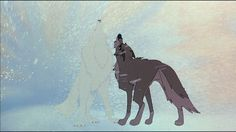 Balto and The White Wolf howling gif *Chills* Anime Wolf, Disney Cartoons, Disney Movies, Disney And Dreamworks, Disney Pixar, Balto Film, Balto And Jenna, Kubo And The Two Strings, Cartoon Wolf