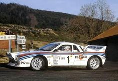 The Lancia Rally 037 Number 1 driven by Walter Rohrl and Christian Geistdorfer to win the 1983 Monte Carlo Rally.