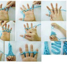 Hilachitas   (Garnetted): Cordón con mis manos...