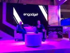 Getting interviewed, talking about music on the Engadget stage at CES in Las Vegas 🎵 Jackel