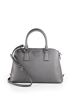 Prada Saffiano Lux Medium Double Zip Tote (in black) | all I want ... - prada double bag caramel/marble gray