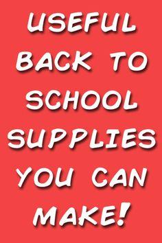 Useful back to school supplies you can make! (Amanda Formaro, Crafts by Amanda)