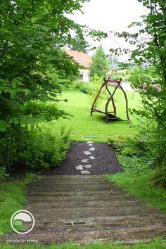 #landcape #architecture #garden #path #swing