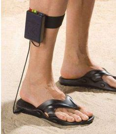 Ima gonna be one of those old ladies looking for treasure with my Metal Detector Sandals From Hammacher Schlemmer