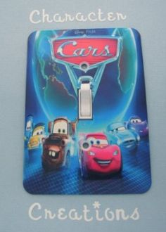 Amazon.com: Disney Pixar CARS 2 Group Standard Metal Light switch Cover (Switch plate Switchplate): Toys & Games