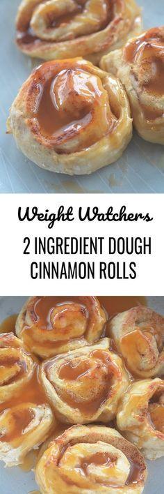 2 Ingredient Dough Cinnamon Rolls - Recipe Diaries #dough #breakfast #cinnamonrolls