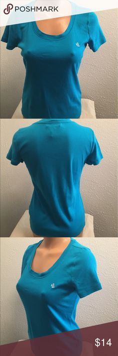 "LAUREN Ralph Lauren Medium Blue T-Shirt Scoop Neck Lauren Ralph Lauren. Medium. Blue. Scoopneck. Cap Sleeves. Chest: 35"" armpit to armpit then doubled. Length:  22 1/4"". 100% Cotton. Excellent condition. Lauren Ralph Lauren Tops Tees - Short Sleeve"