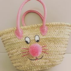 Matching pair twining large basket bag and clutch in matching kids bunny basket bag cute easter gift negle Choice Image