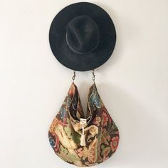 Your place to buy and sell all things handmade Bohemian Pattern, Stitching Leather, Leather Bags, Tote Bags, Buy And Sell, Drop Earrings, Unique, Cotton, Handmade
