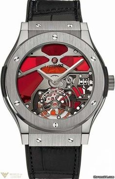 Hublot Classic Fusion Tourbillon Vitrail Men's Watch Model No. 502.NX.0001.LR