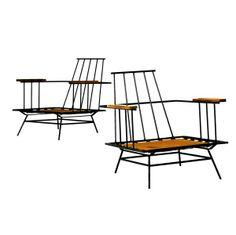 PAUL McCOBB Pair of lounge chairs. 28'' x 28 3/4'' x 27 3/4''