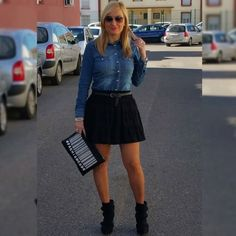 #fashion #style #street #clothes #outfit #outfits #spring #ootd Spring Ootd, Street Clothes, Denim Skirt, Mini Skirts, Makeup, Outfits, Style, Fashion, Make Up