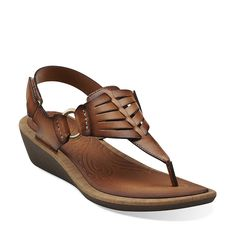 Millie Flare in Honey Synthetic - Womens Sandals from Clarks for walking in italy?