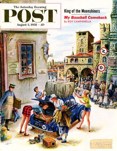 1958 Saturday Evening Post cover by Constantin Alajalov.