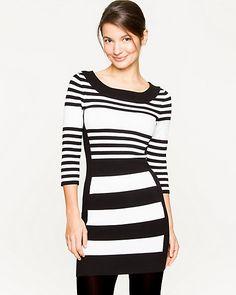 Viscose Blend Stripe Tunic